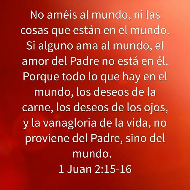 1 De Juan 2 15 16