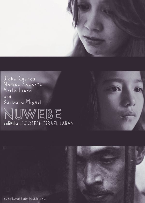 Nuwebe (2013) Inspired by the actual story of one of the youngest mothers in Philippine history,  follows the story of Krista who at the tender age of 9 got pregnant from the sexual abuse perpetrated by her own father. Her story is complex. Krista refuses to see herself as a victim. With an almost documentary style, NUWEBE follows Krista's story as she demonstrates a level of resilience uncommon to her age.