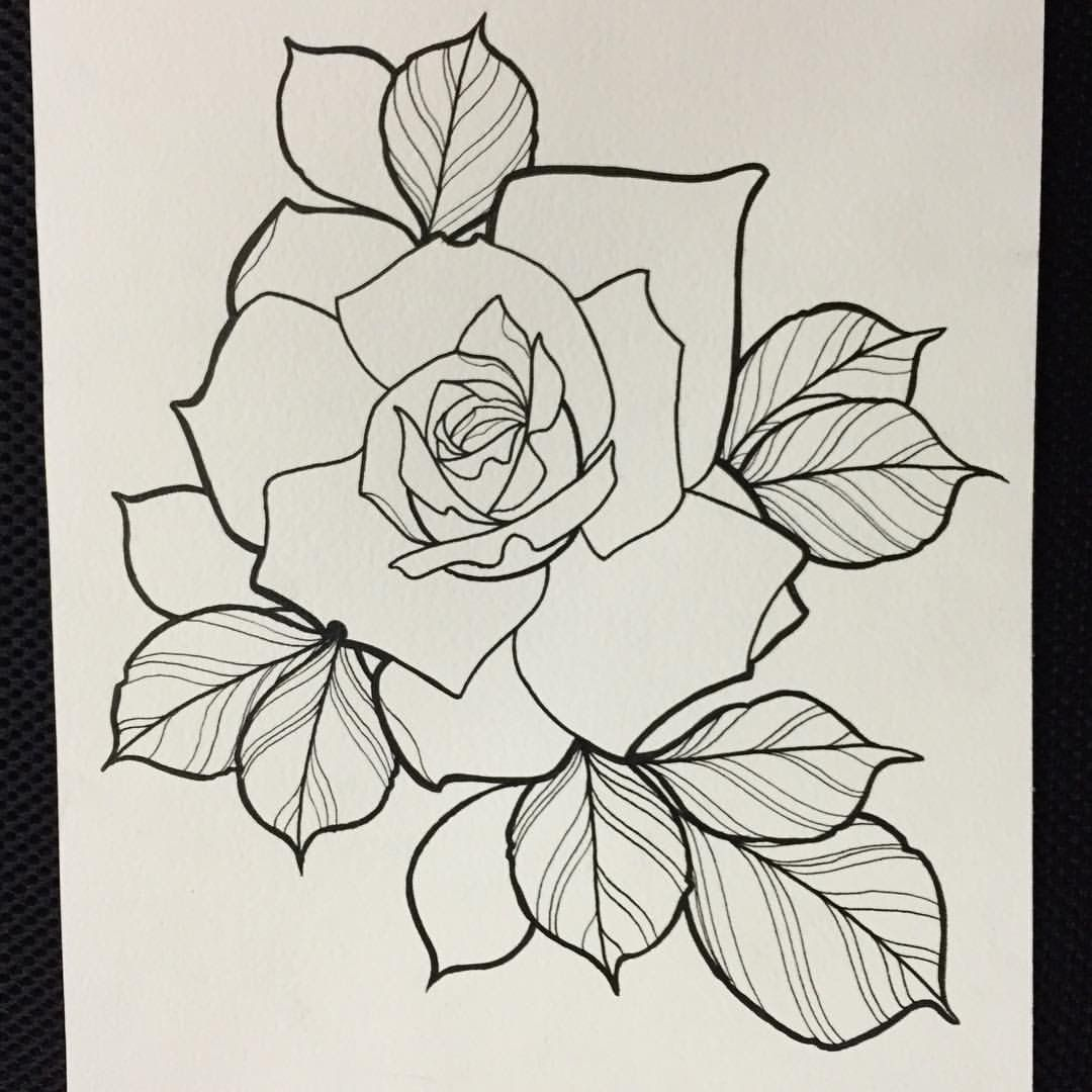 Pin By Melissa Black On Tattoos Rose Sketch Traditional Tattoo Flowers Flower Tattoo Drawings