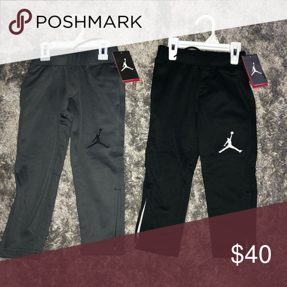 sneakers for cheap 7d3c0 5c017 NWT Jordan 4T New size 4 Colors gray and black Jordan Bottoms Sweatpants    Joggers