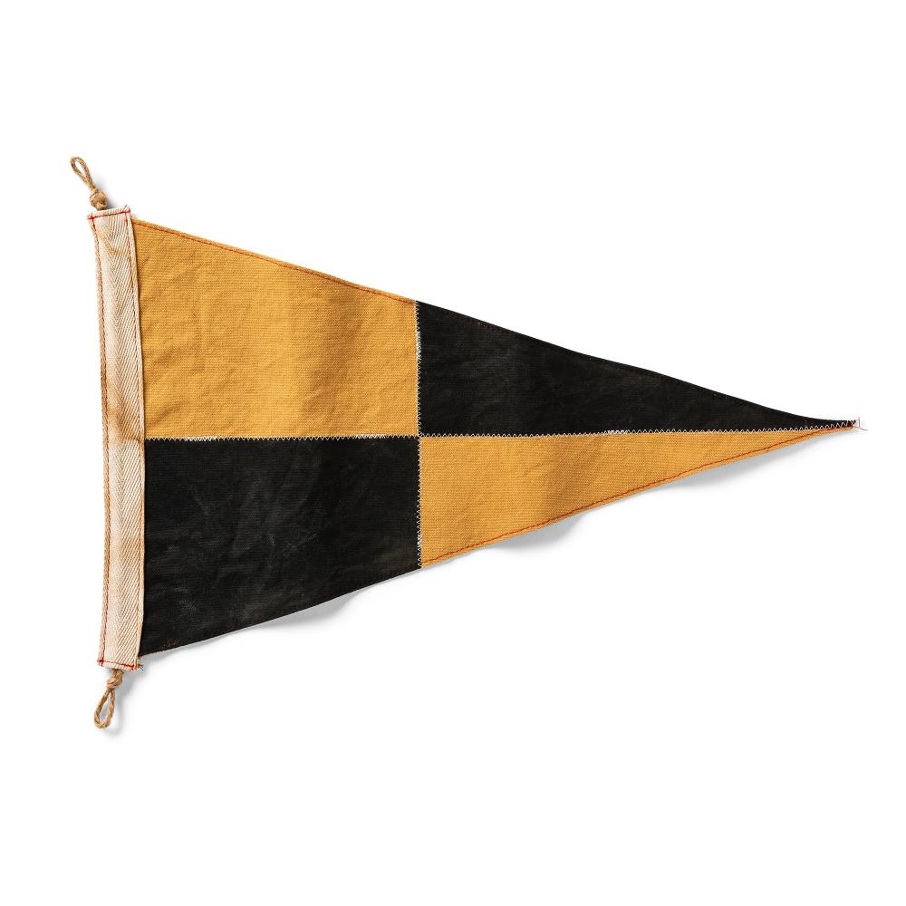 Check Flag - BLK/YEL – slightlychoppy