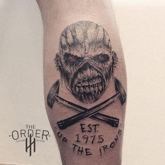 Iron Maiden Tribal Eddie Tattoo The Order Iron Maiden Tattoo Metal Tattoo Tattoos