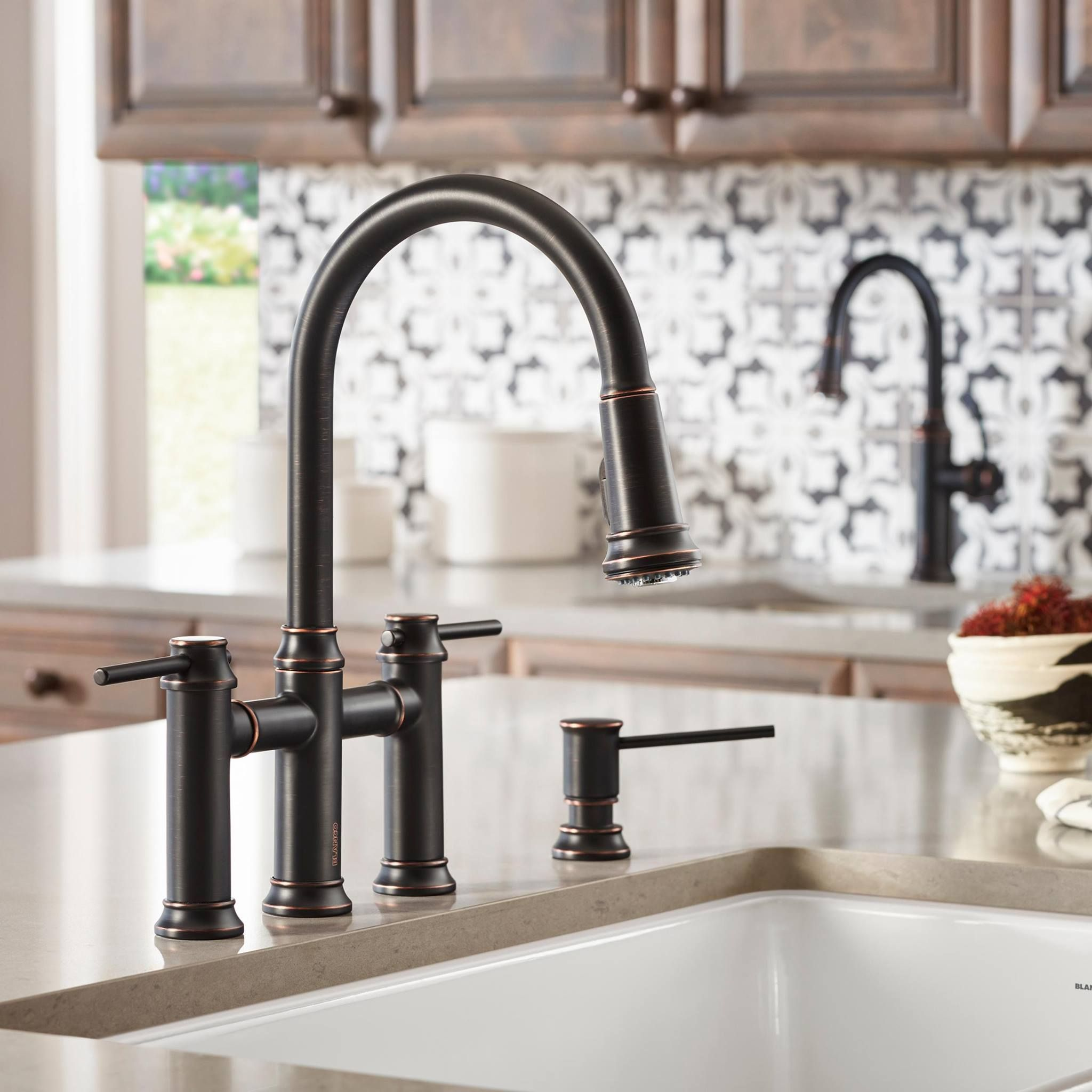 Blanco America Empressa Bridge Faucet In Oil Rubbed Bronze