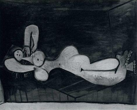Pablo Picasso, 1946 Femme nue couchée on ArtStack #pablo-picasso #art