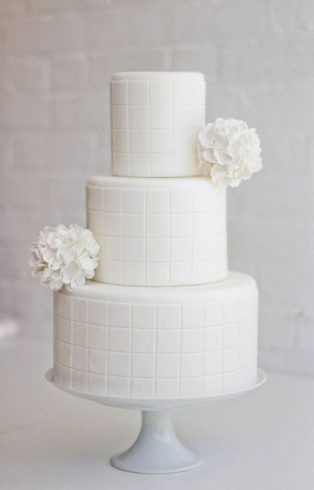 7 All White Wedding Cakes ~ we ♥ this! moncheribridals.com
