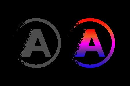 A Alphabet Splash Logo Design Logo Design Png Graphics Vector Illustration