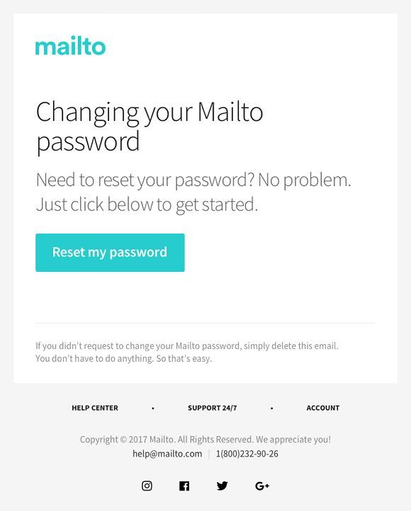 Change Password Email Template By Vladimir Kudinov On Creativemarket Email Templates Email Design Email Marketing Template