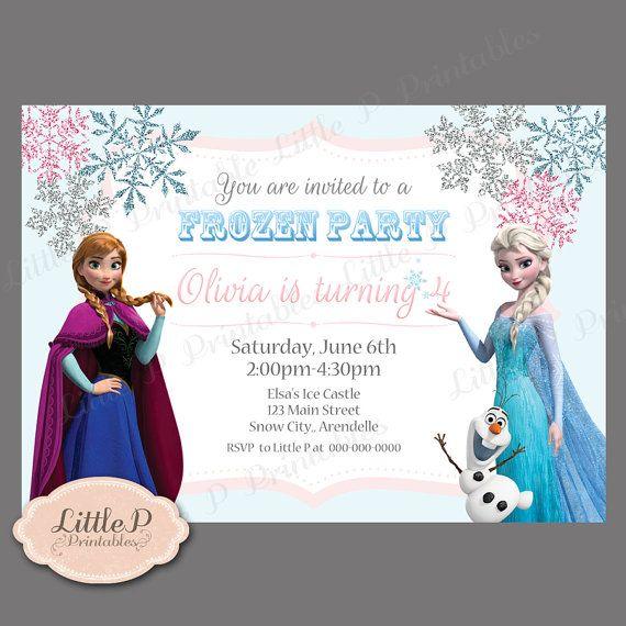 Frozen Invitation Birthday Por LittlePprintables En Etsy