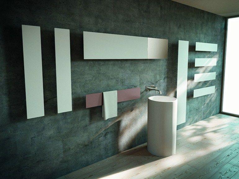 Horizontaler Wandmontierter Designheizkörper aus Aluminium TAVOLA - design heizkörper wohnzimmer