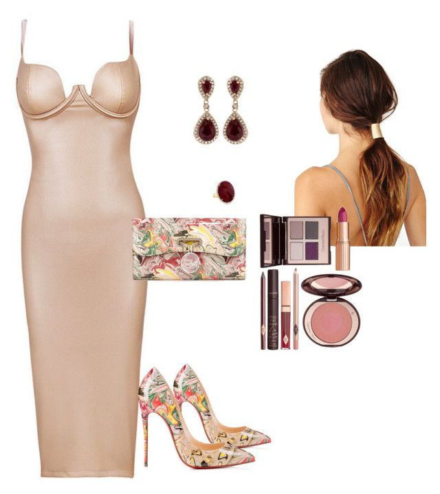 """""""Sin título #109"""" by pricsila-marquina-gonzalez on Polyvore featuring moda, Charlotte Tilbury, Effy Jewelry y Christian Louboutin"""