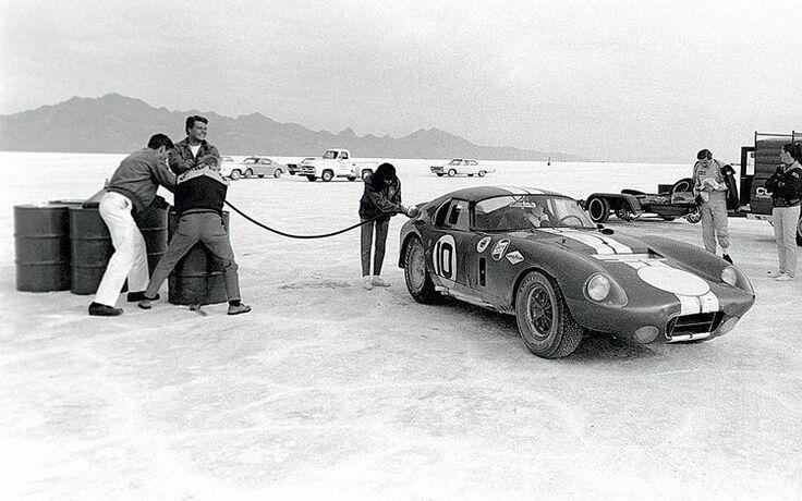 Shelby Cobra at Boneville, 1965.