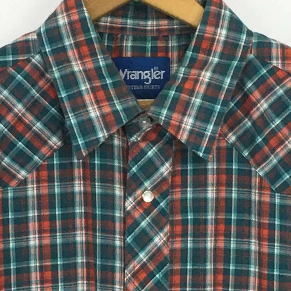 Vintage /floral /polyester Wrangler western snap button shirt M UNIQUE!!!! rzH8KVkiA