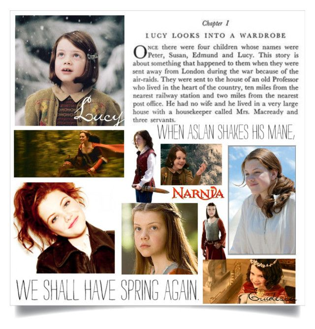 """Lucy Pevensie"" by tolkien-stuff ❤ liked on Polyvore featuring art and tolkienstuffart"
