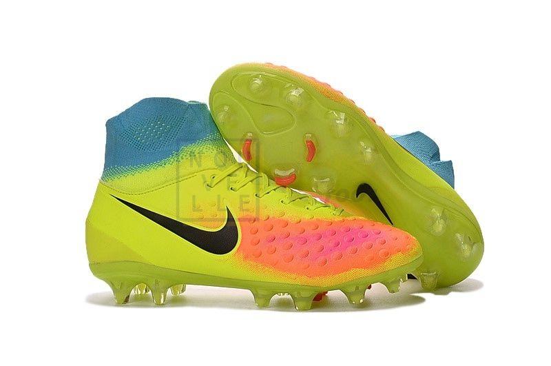 Chaussures De Foot Nike Magista Orden FG Jaune Bleu Pas Cher ...