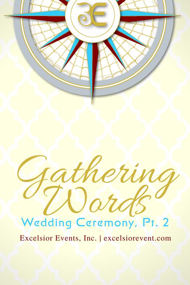 wedding ceremony gathering words Declaration of intent