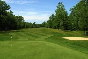 Photo of Hole 11 at Mackinaw Club, 18 hole Golf Course in Carp Lake, Michigan. #puremichigan