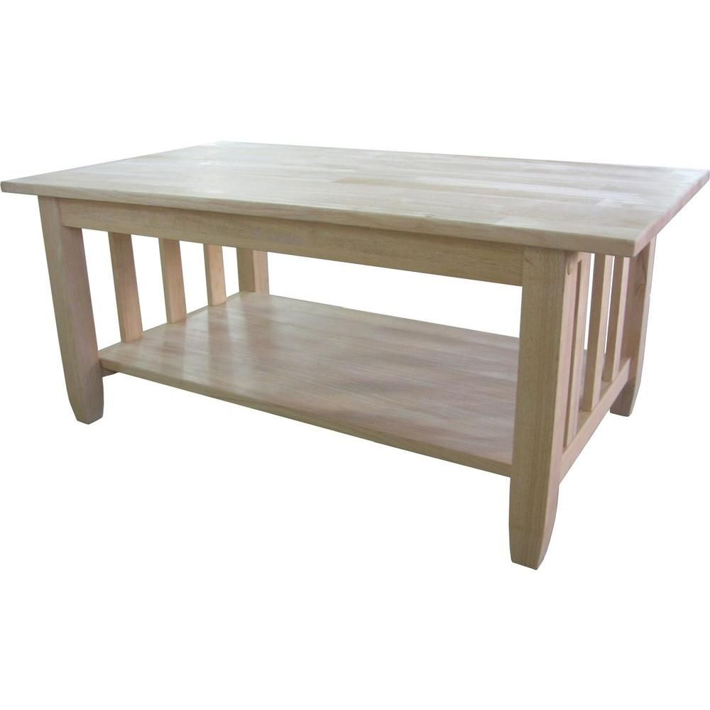 International Concepts Unfinished Coffee Table-BJ6TC - The Home Depot