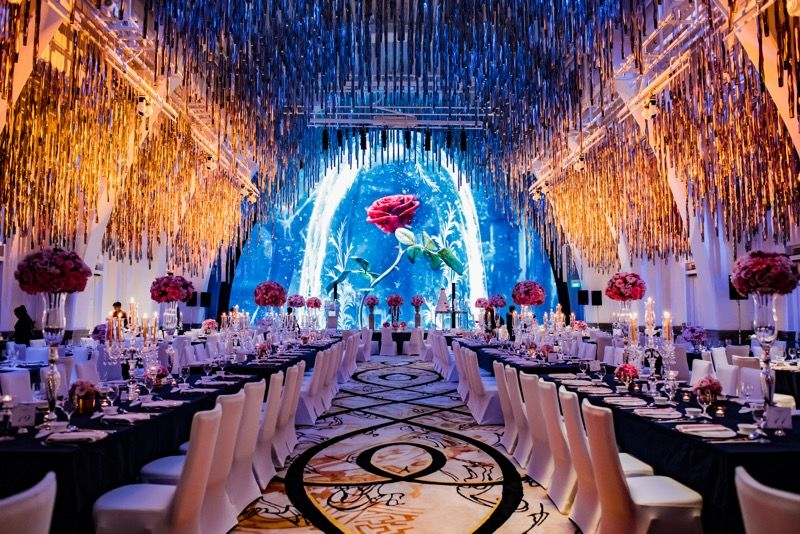 A Beauty And The Beast Inspired Wedding At Jw Marriott Singapore