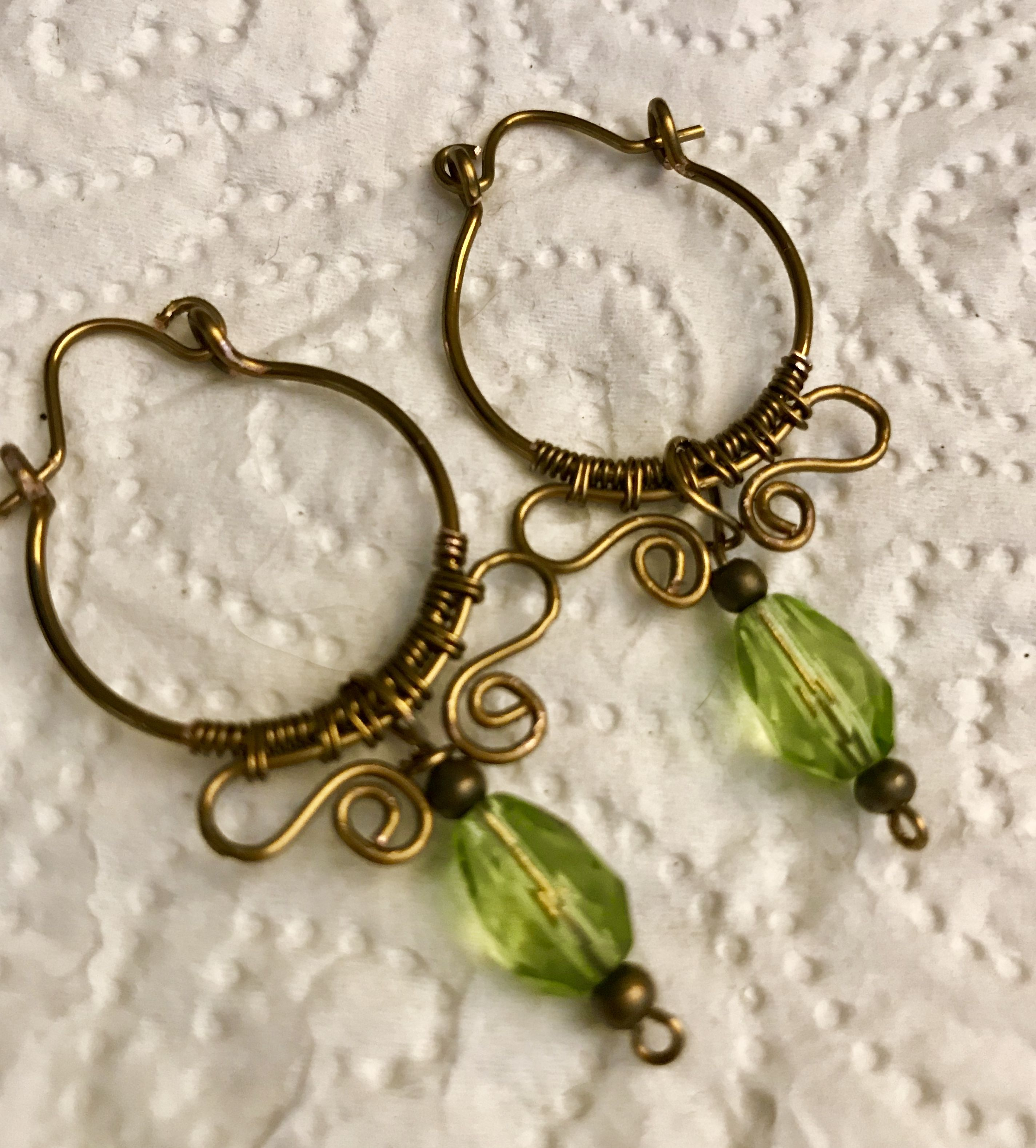 Wire wrapped earrings #wirewrapjewelry #earrings #copper | Wire ...