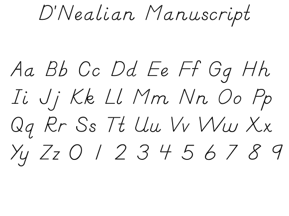DNealian Manusript DNealian Wikipedia the free encyclopedia – D Nealian Handwriting Worksheet