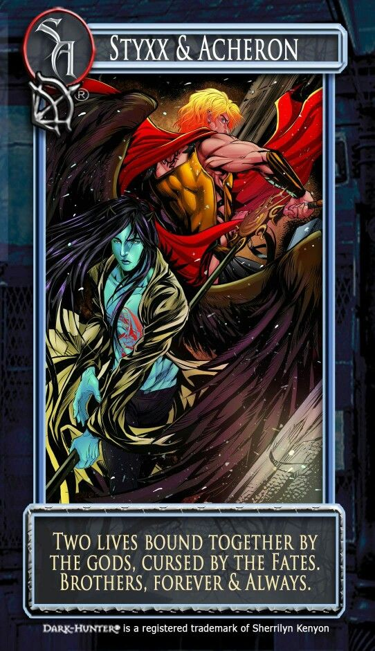 Acheron And Styxx Artwork Based On Books And Movies Pinterest