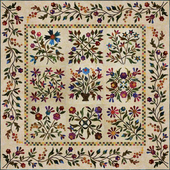 Spring Bouquet, designed by Edyta Sita. I am so going to do this ... : edyta sitar quilt patterns - Adamdwight.com