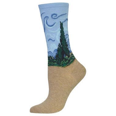 Wheat Field With Cypress Famous Artist Series Collection Socks