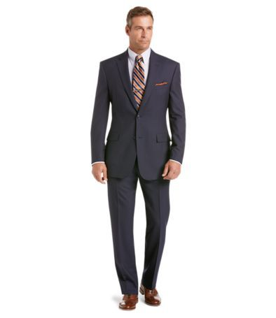 Classic Collection Traditional Fit Blue Pinstripe Suit
