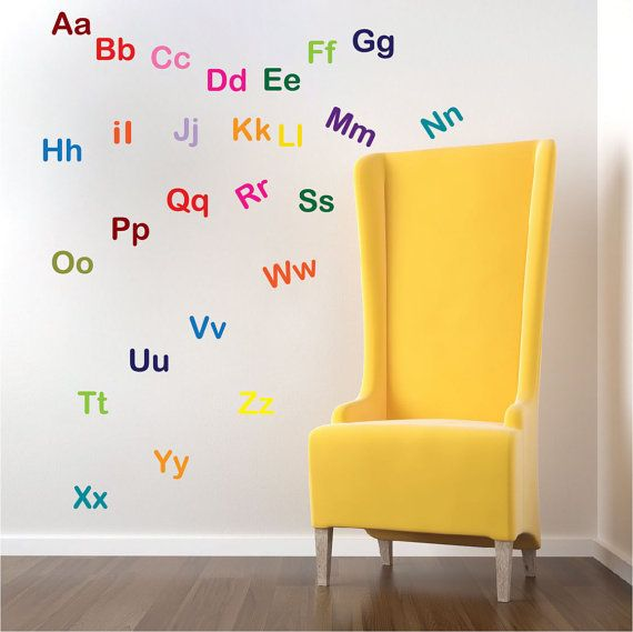 Alphabet Wall Letter Decal Stickers Nursery Mural Letters Kids