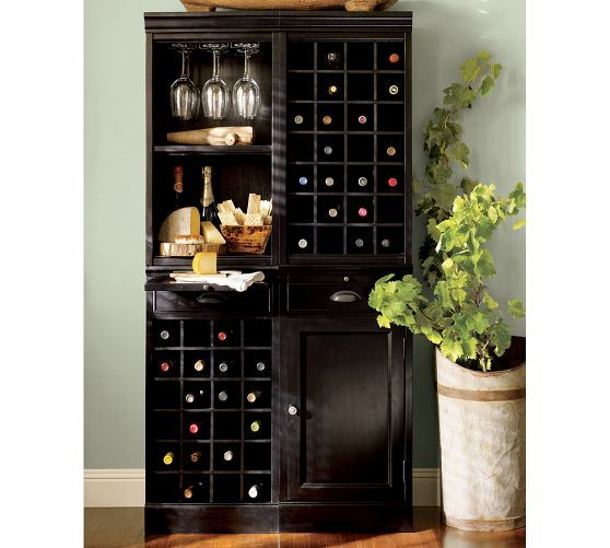 Modular Bar System With 1 Wine Hutch Open