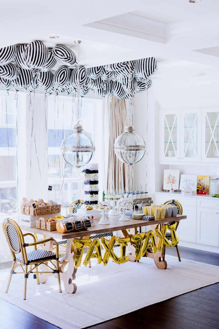 Super Chic NYC Themed Party For A 1 Year Oldbut Its Still Got Some Great Ideas