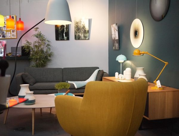 bleu canard jaune | Déco: salon/living room/sala | Pinterest ...