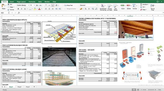 Download the estimating spreadsheet for load analysis of a building - Analysis Spreadsheet Template
