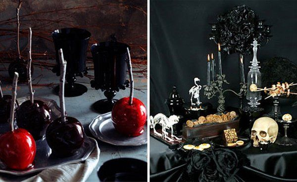 Superb Sinister Halloween Table Decorations And Bizarre Bar Ornamentation