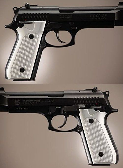 Grips 47239: Hogue Taurus Pt99 Grips W Decocker Checkered Aluminum Brushed Gloss Clear, New -> BUY IT NOW ONLY: $85.04 on eBay!