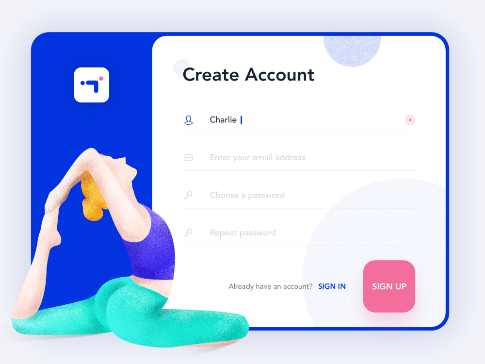 Fitness App Create Account Workout Apps Create Account App Login