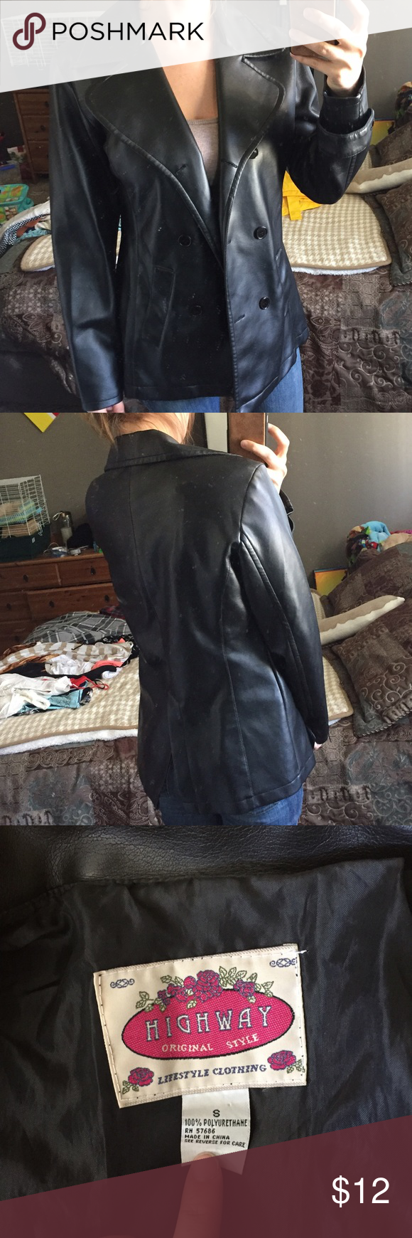 Pleather Jacket Great condition Jackets & Coats