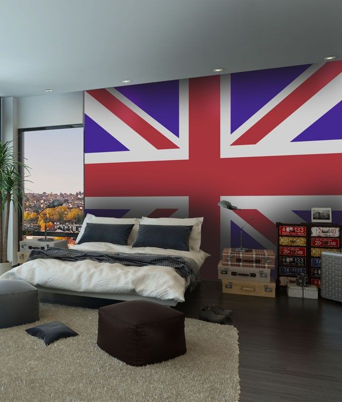 papier peint londres drapeau anglais papier peint. Black Bedroom Furniture Sets. Home Design Ideas