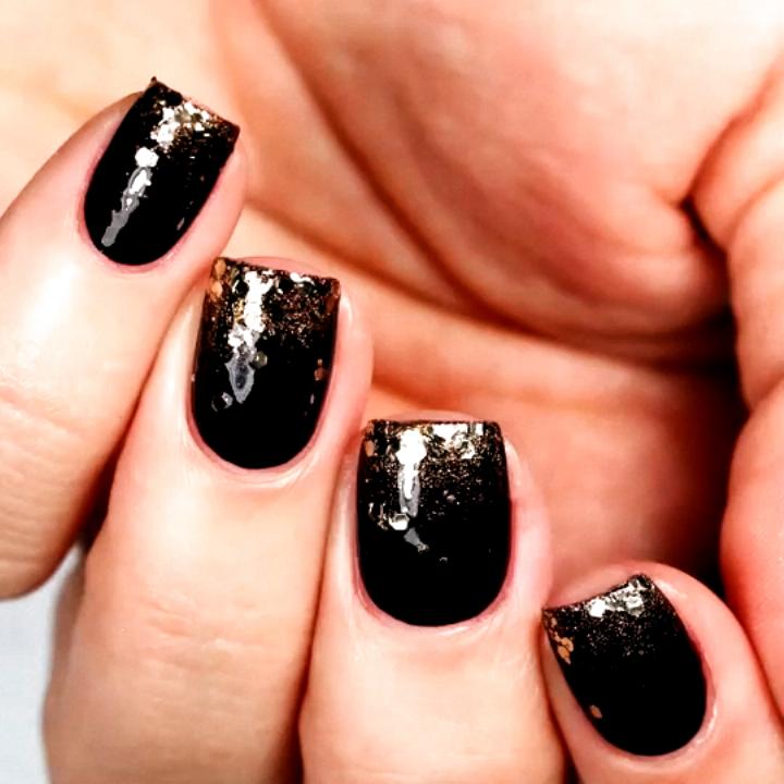 get an ombré glitter thanksgiving nail art look for this