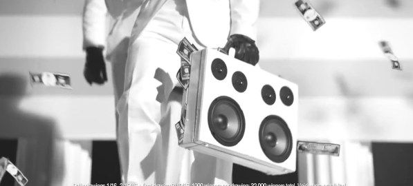 HR Block BoomCase BriefCase BoomBox Commercial Ad Black and White Dance