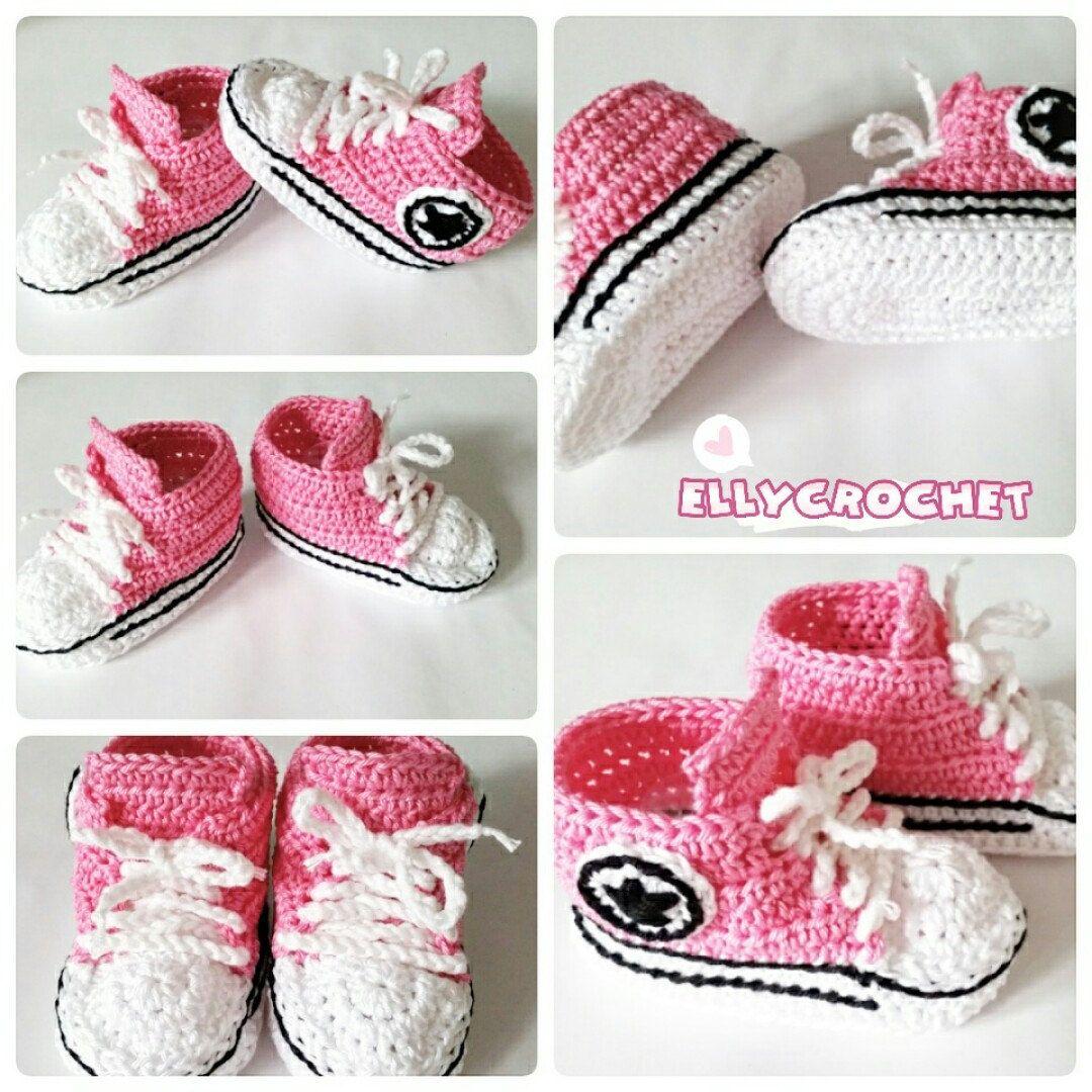 New in my shop. Crochet pink baby booties. | BOOTIES | Pinterest