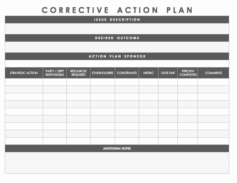 Customer Service Action Plan Examples Luxury Free Action Plan