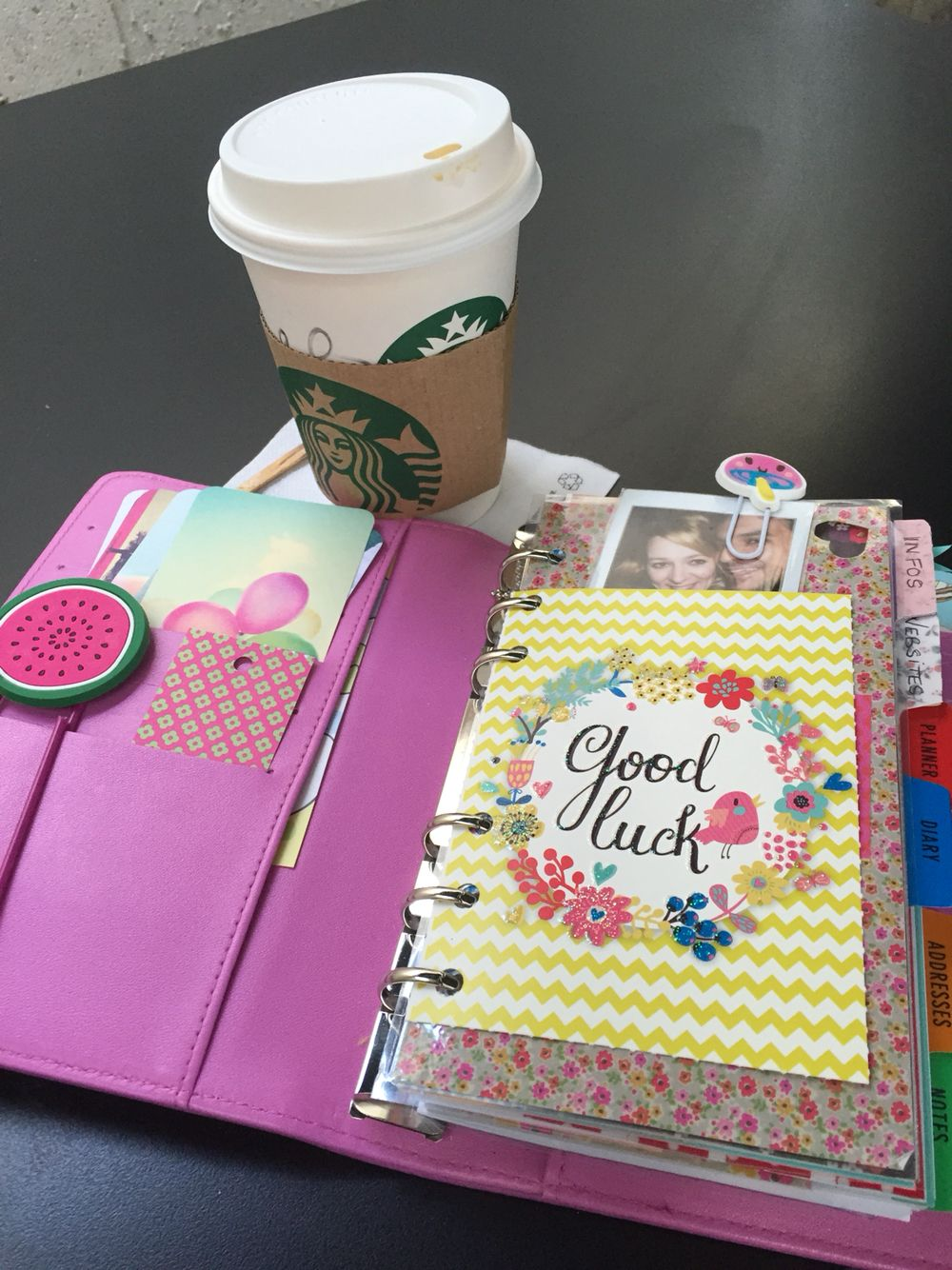 Inside my paperchase on the go planner !
