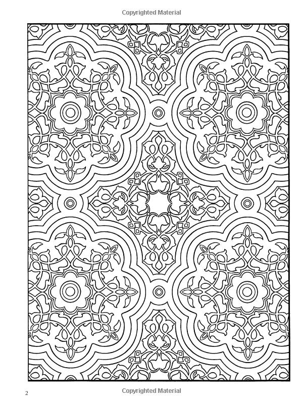Decorative Tile Patterns Amazon Decorative Tile Designs Coloring Book Dover Design