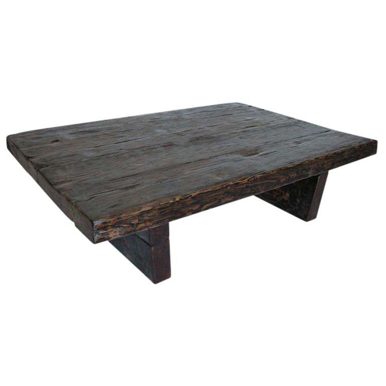 reclaimed wood coffee table wood