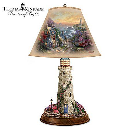 Thomas Kinkade The Village Lighthouse Lamp | Lighthouse art and ...