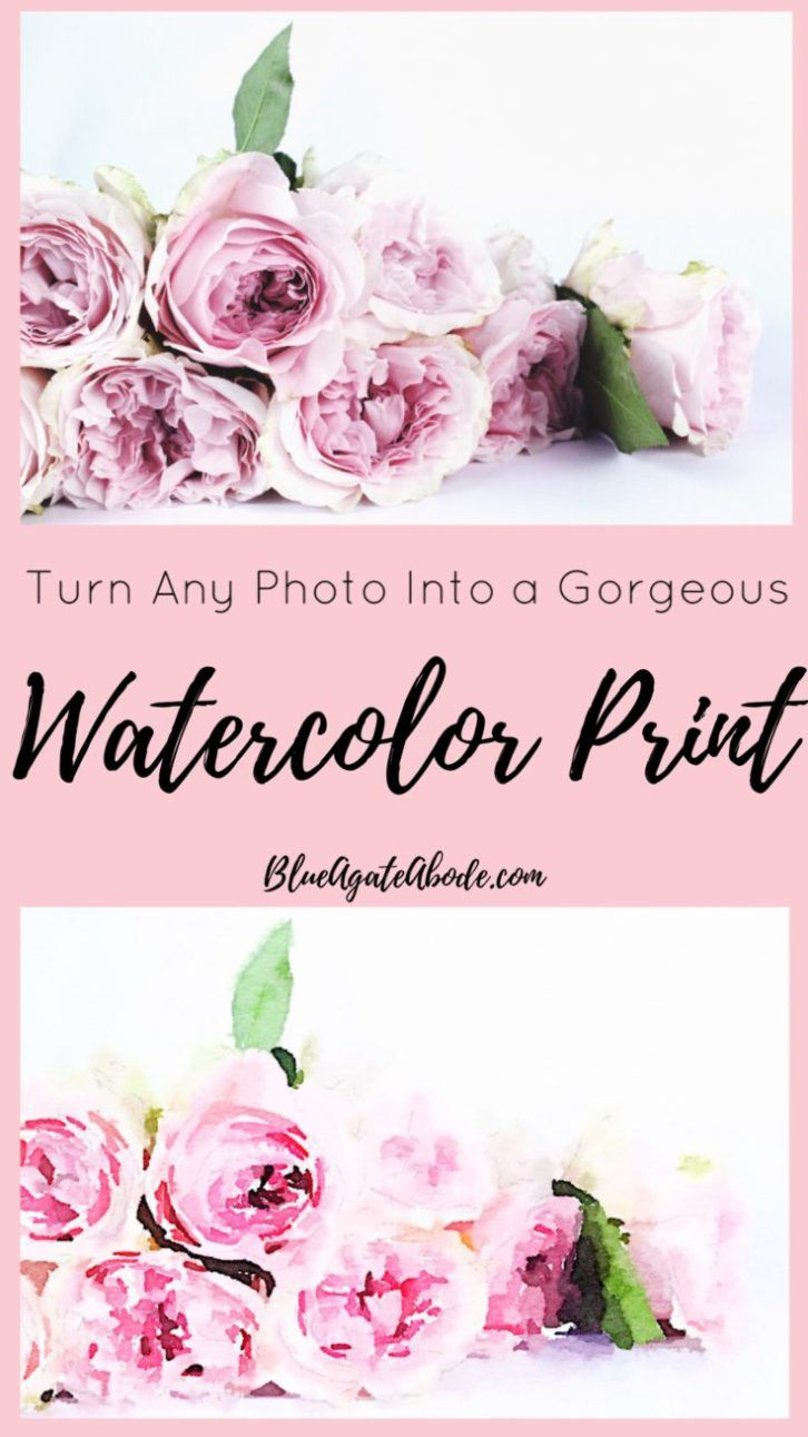 Turn Any Photo Into a Gorgeous Watercolor Print | Artwork ...