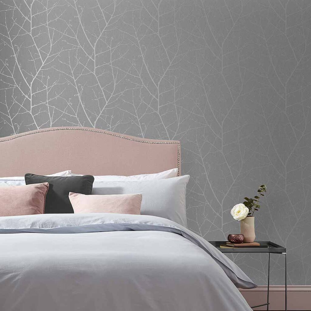 Boreas Deep Grey Wallpaper Grey Wallpaper Graham Brown In 2020 Grey Wallpaper Bedroom Grey Wallpaper Feature Wall Bedroom