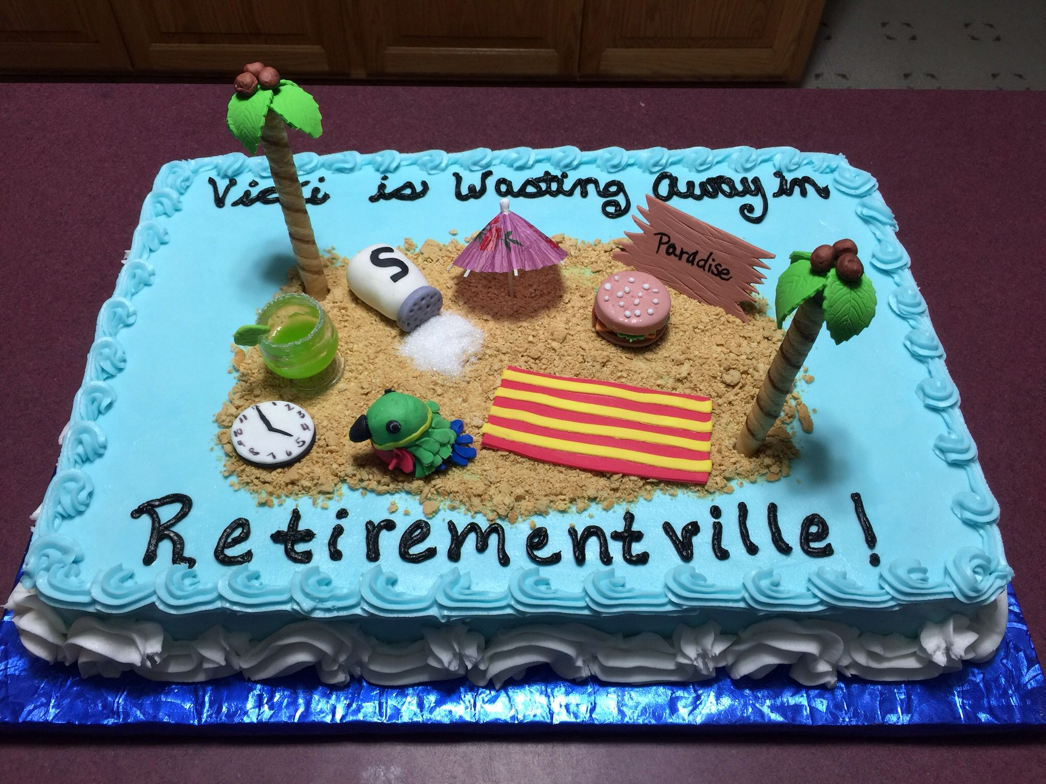 Jimmy Buffett Margaritaville Retirement Cake