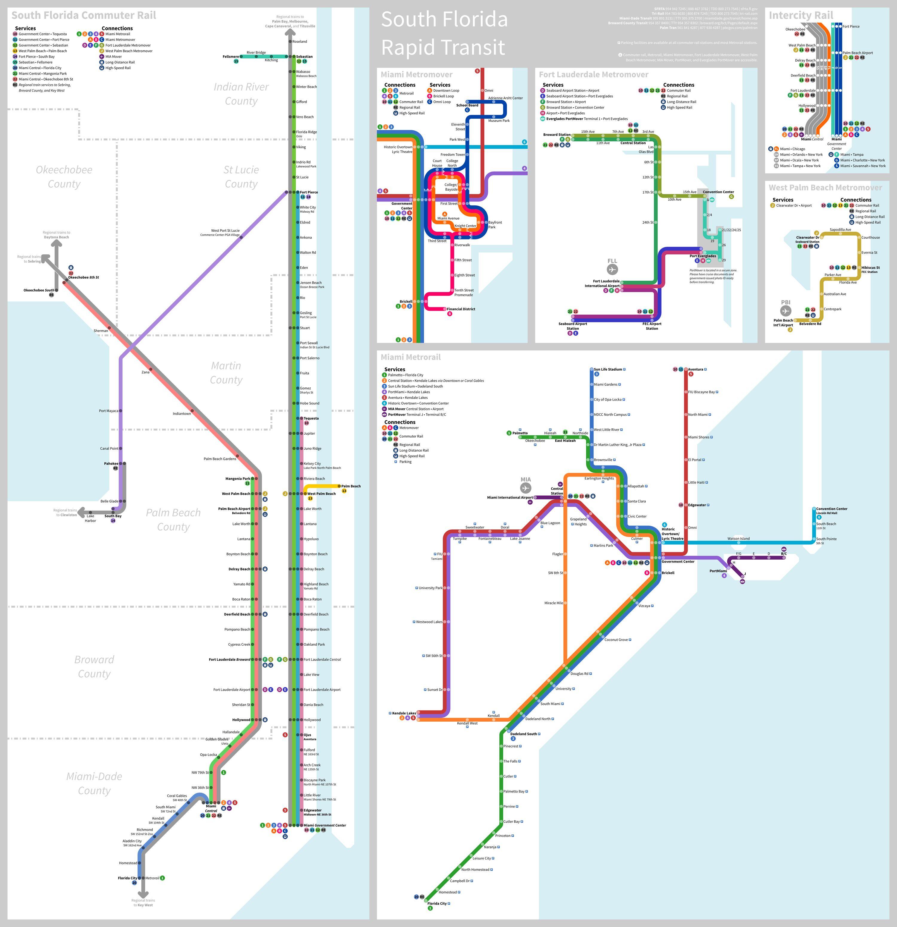 South Florida Rapid Transit Vision Miami Fantasy Subway Rapid
